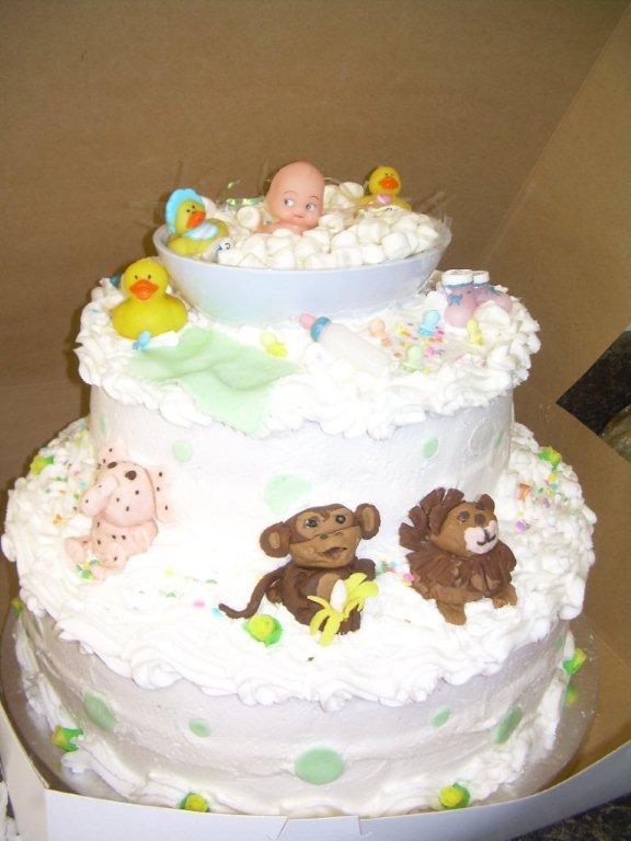 SAFARI BABY SHOWER CAKE-