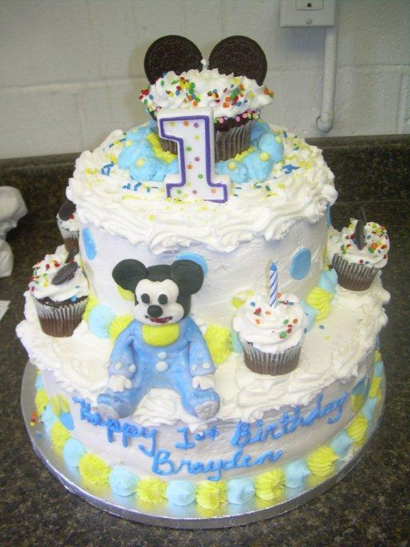 BABY MICKEY MOUSE BIRTHDAY CAKE