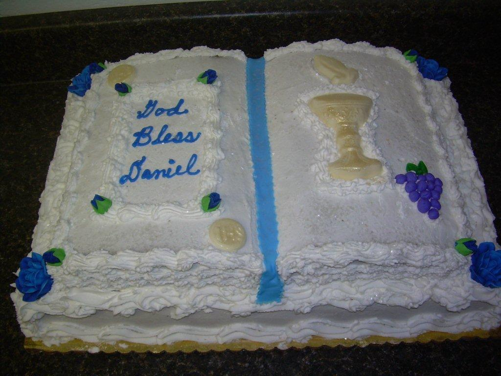 HOLY BOOK COMMUNION CAKE-