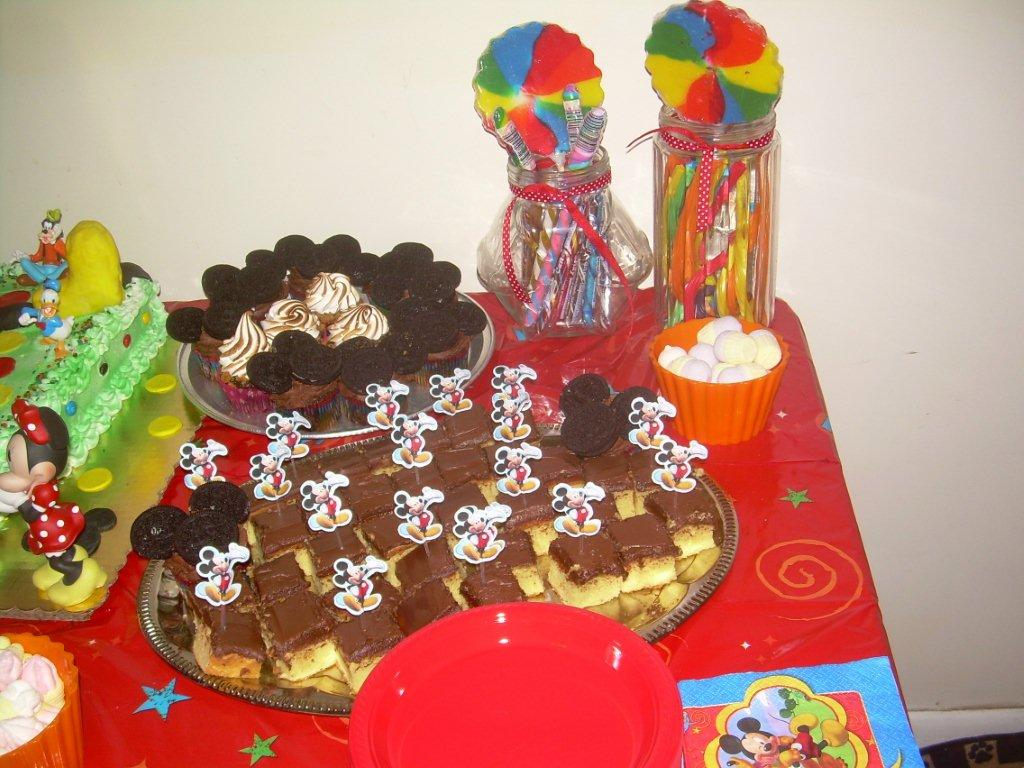 MICKEY MOUSE DESSERTS-CANDY, LICORICE, MICKEY MOUSE CUPCAKES....