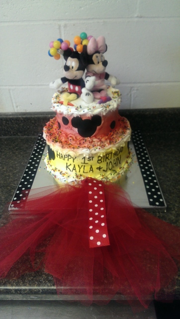 Mickey and Minnie Mouse Twins Birthday-
