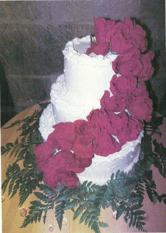 wedding flower cake-